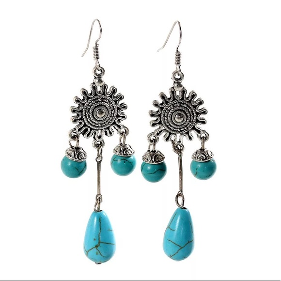 slp amazon stone with blue drop earrings com